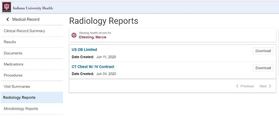 radiology Reports